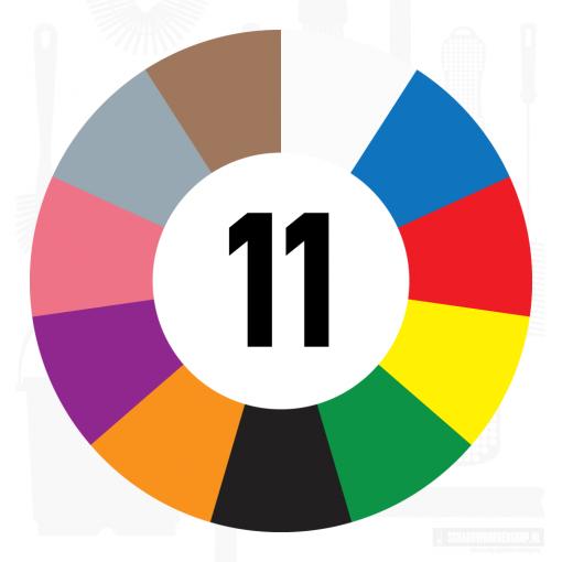 11 kleuren