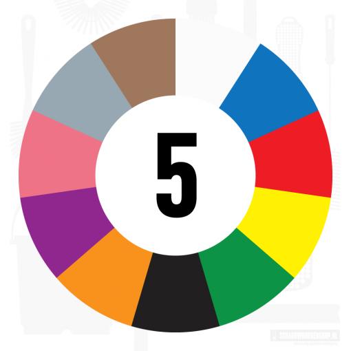 5 kleuren
