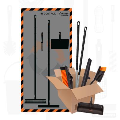 Orangebrush schaduwbord werkmaterialen